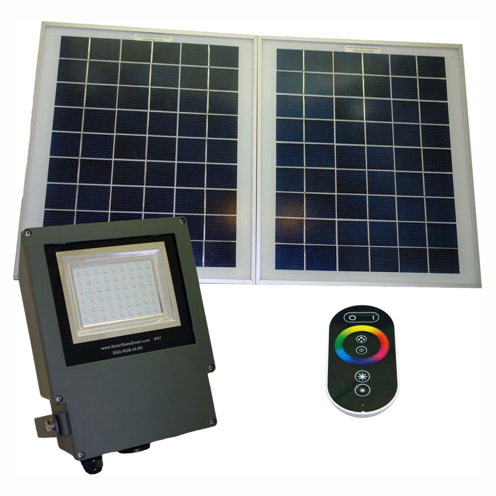 Solar Goes Green Solar Grey Color Led Changing Outdoor