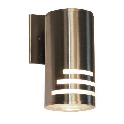 1-Light Stainless Steel Outdoor Wall Mount Sconce