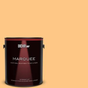Behr Marquee 1 Gal P240 4 Mango Tango Flat Exterior Paint Primer 445401 The Home Depot