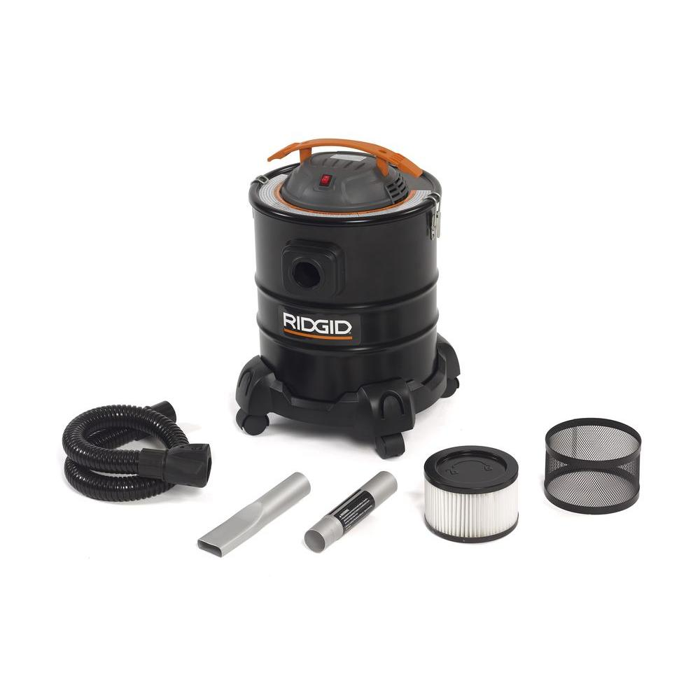 RIDGID 5 Gal. 3.0-Peak HP Ash Canister Vacuum Cleaner