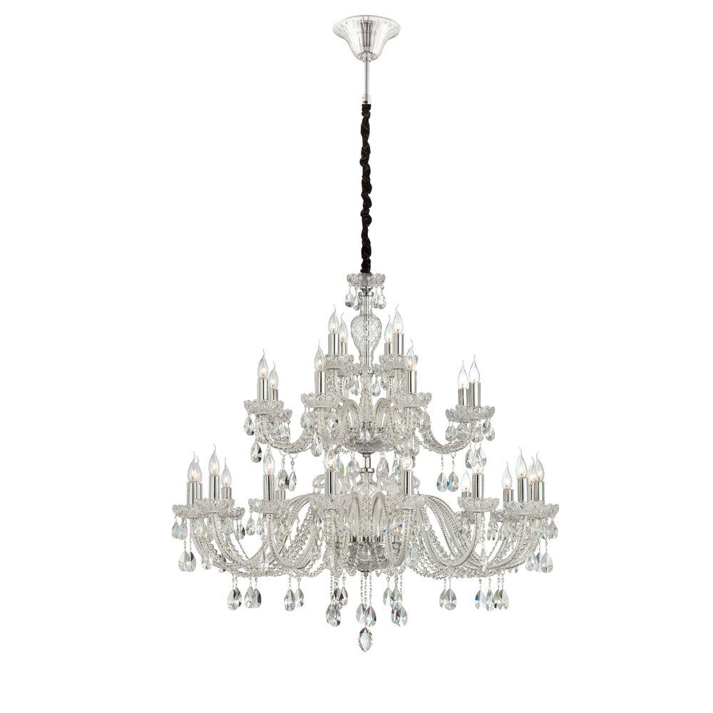 Eurofase Providence Collection 28-Light Clear Chandelier-DISCONTINUED