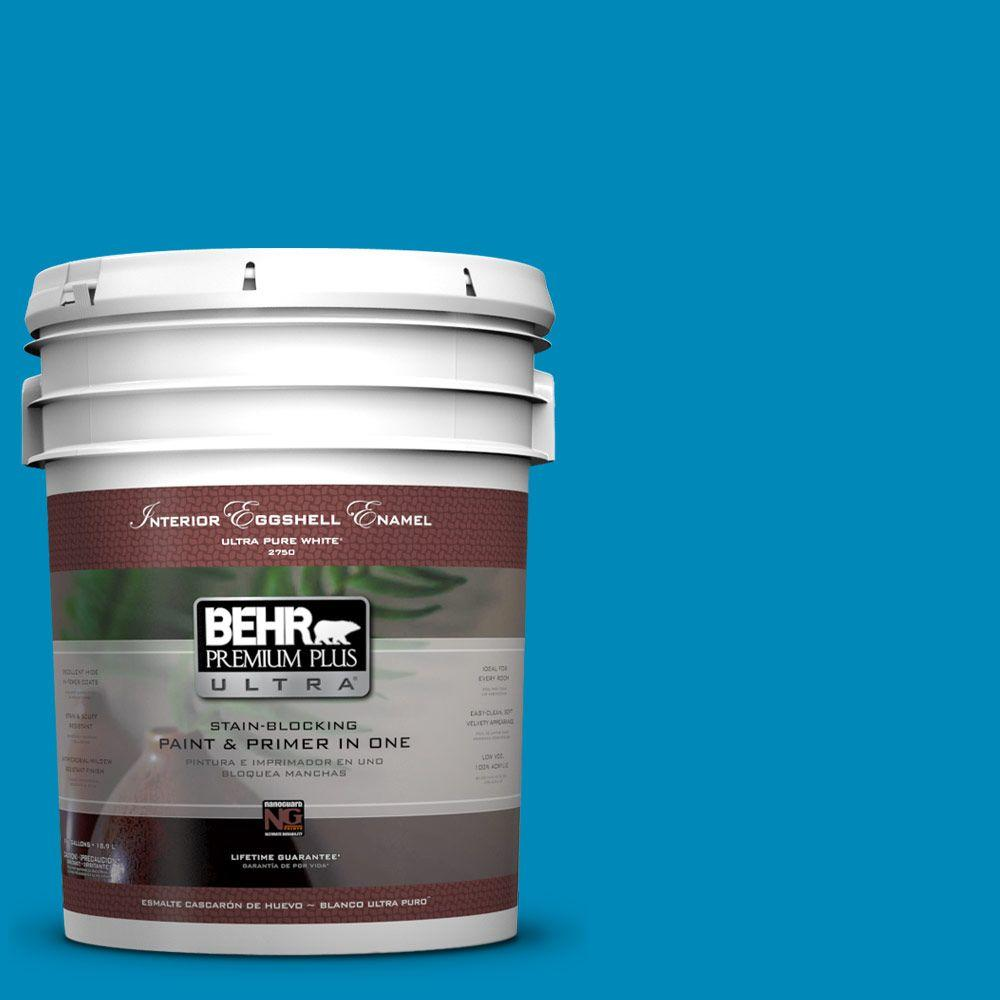 BEHR Premium Plus Ultra 5-gal. #540B-7 Royal Peacock Eggshell Enamel Interior Paint