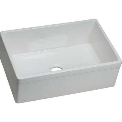 Explore Undermount Fireclay 30 in. Single Bowl Kitchen Sink in Gloss White
