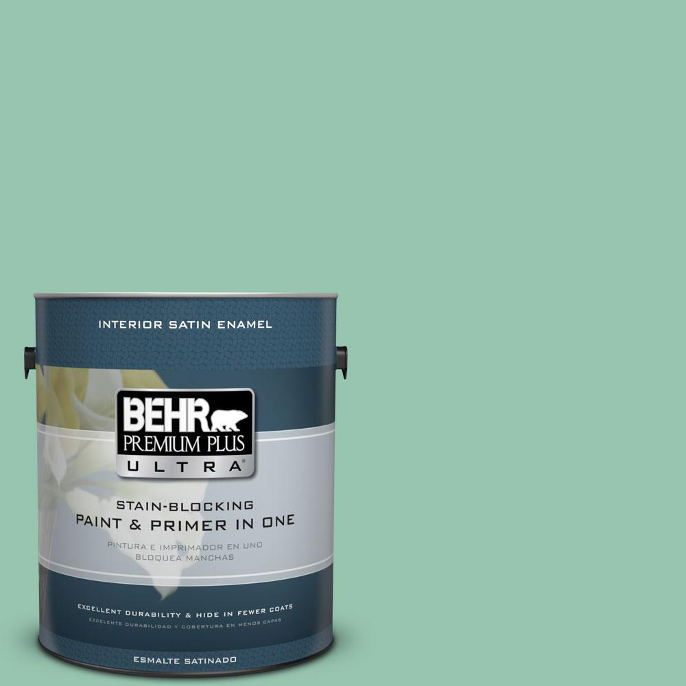 1-gal. #M420-4 Jade Mountain Satin Enamel Interior Paint