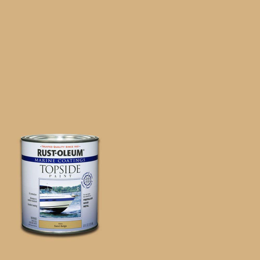 Rust Oleum Marine 1 Qt Sand Beige Gloss Topside Paint