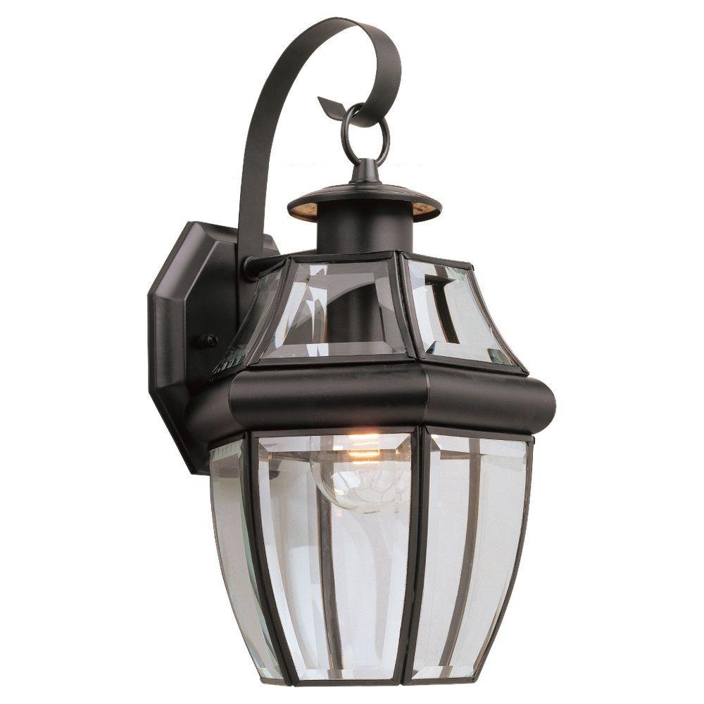 Outside Light Fixtures Home Depot: Sea Gull Lighting Lancaster Wall Mount 1-Light Small