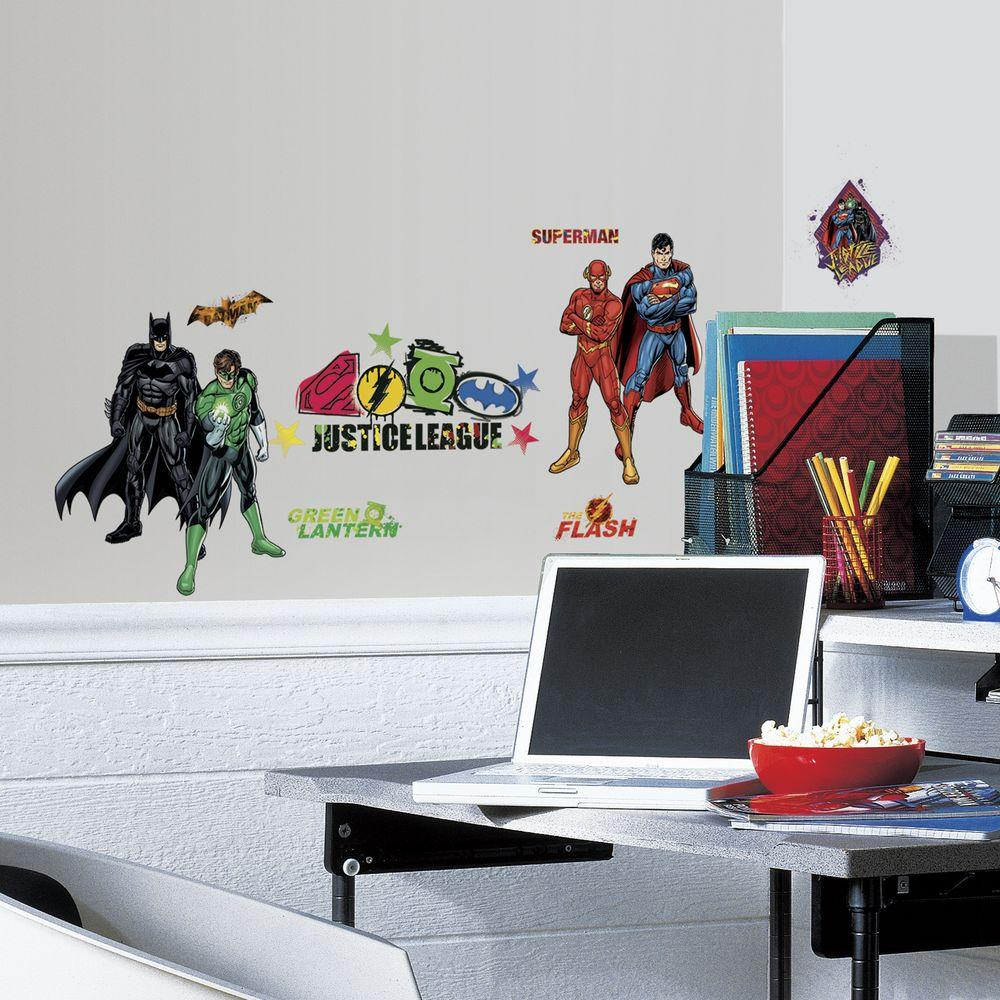 5 in. x 11.5 in. Justice League Peel and Stick Wall