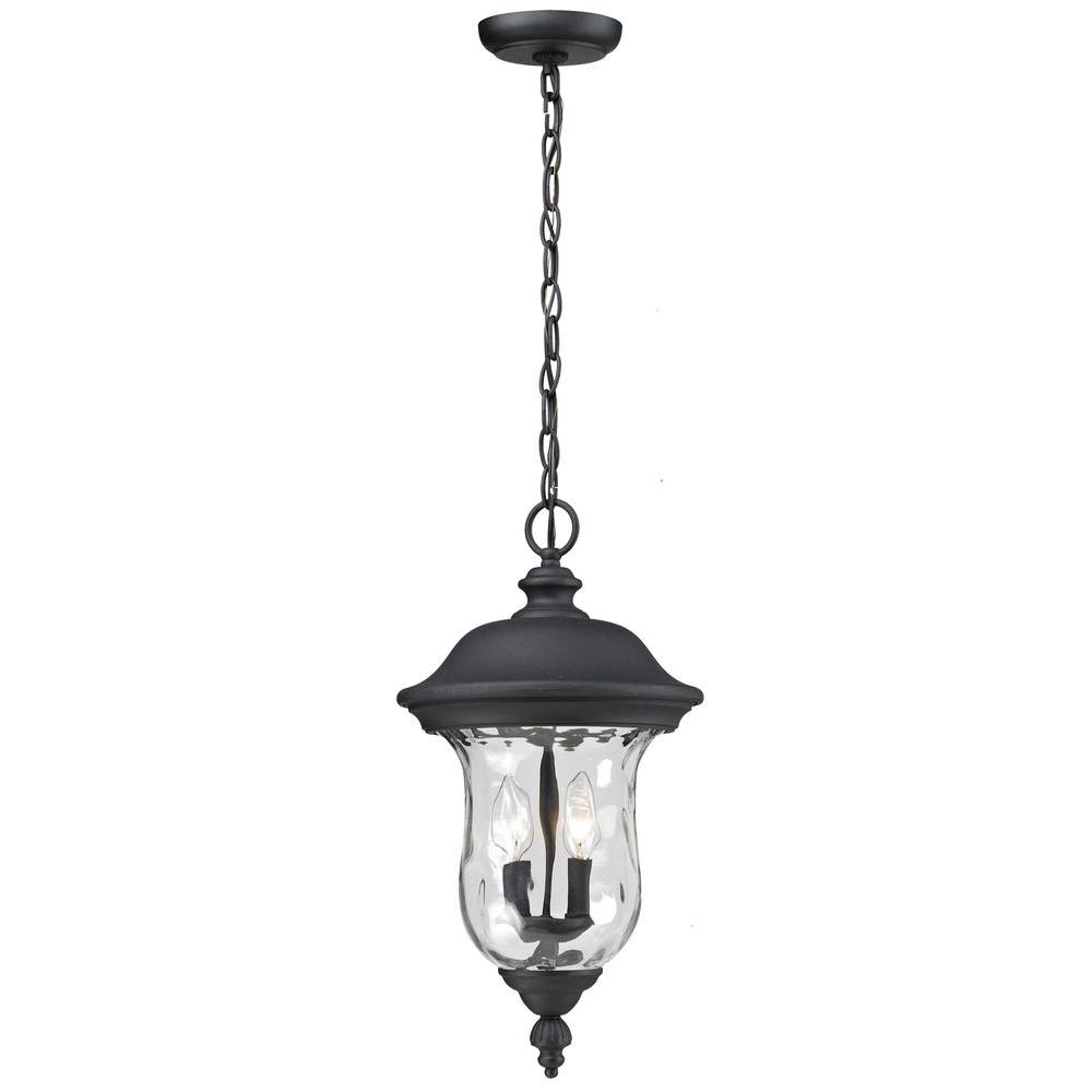 Filament Design Lawrence 2-Light Black Incandescent Outdoor Hanging Pendant
