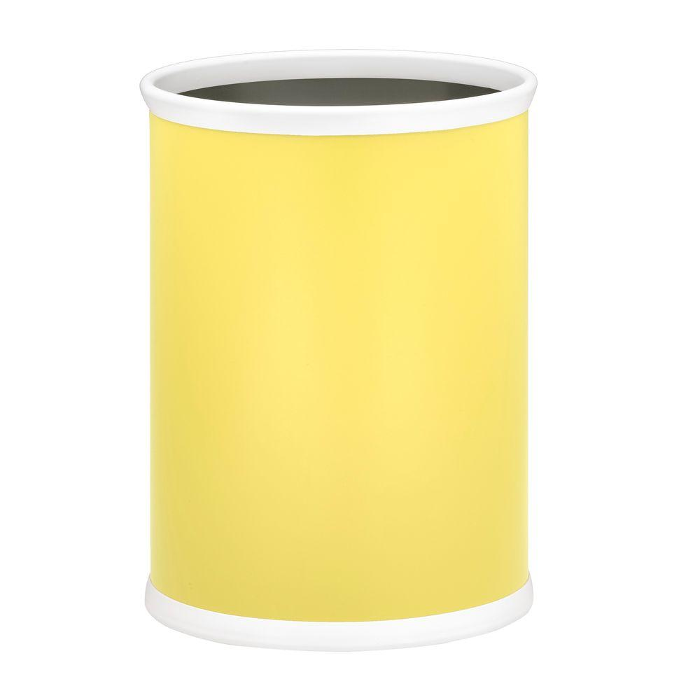 Kraftware Bartenders Choice Fun Colors Lemon 13 Qt. Oval Waste Basket