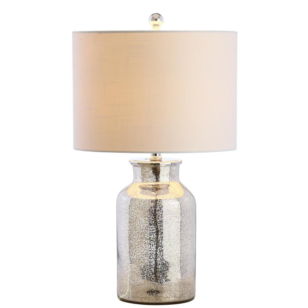 Mercury Silver Mercury Glass Table Lamp