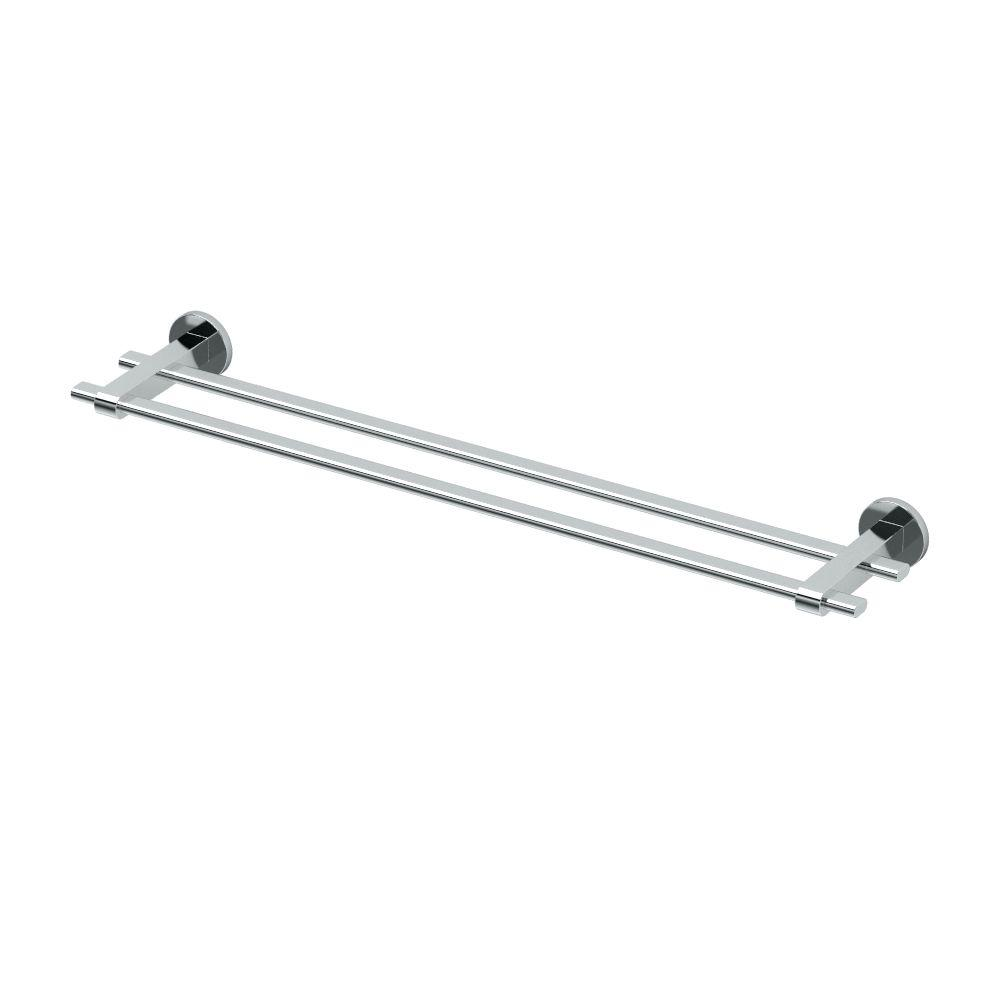 Zone 24 in. Double Towel Bar in Chrome