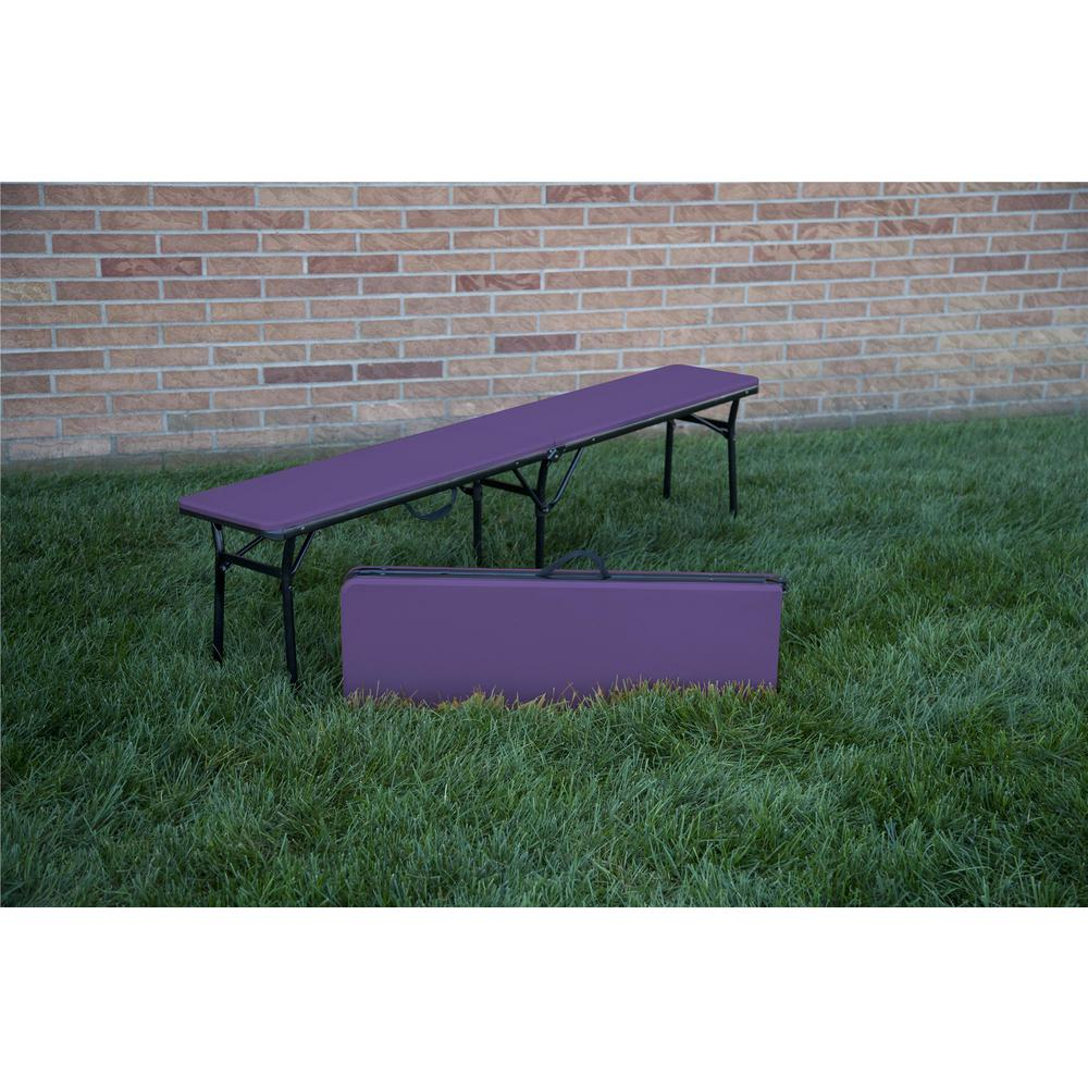 Cosco 73 In Purple Plastic Portable Folding Banquet Table