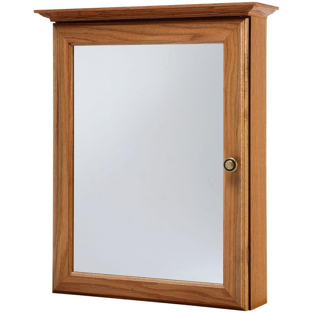 oak bathroom medicine cabinets american classics 20 1 4 in w x 25 in h framed surface 19760