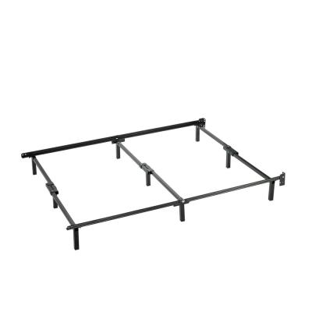 Compack Full Black Metal Bed Frame