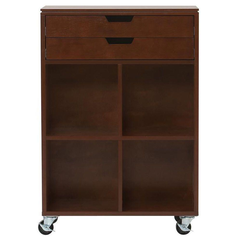 Home decorators collection avery 4 cube mdf mobile cart in for Home depot decorators collection
