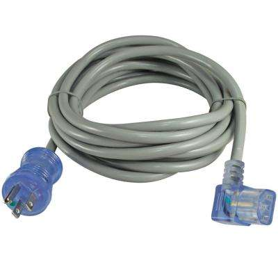 20 ft. 14/3 15 Amp Hospital/Medical Grade Green Dot Power Cord NEMA 5-15P to Left Angle C13 (IT/CPU/Server End)