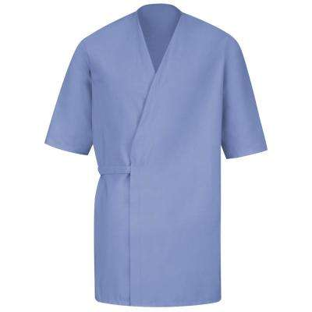 Unisex Size S Light Blue Collarless Butcher Wrap