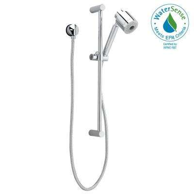 FloWise Modern 3-Spray Wall Bar Shower Kit in Polished Chrome