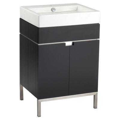 Studio 22 in. Bath Vanity Cabinet Only in Espresso