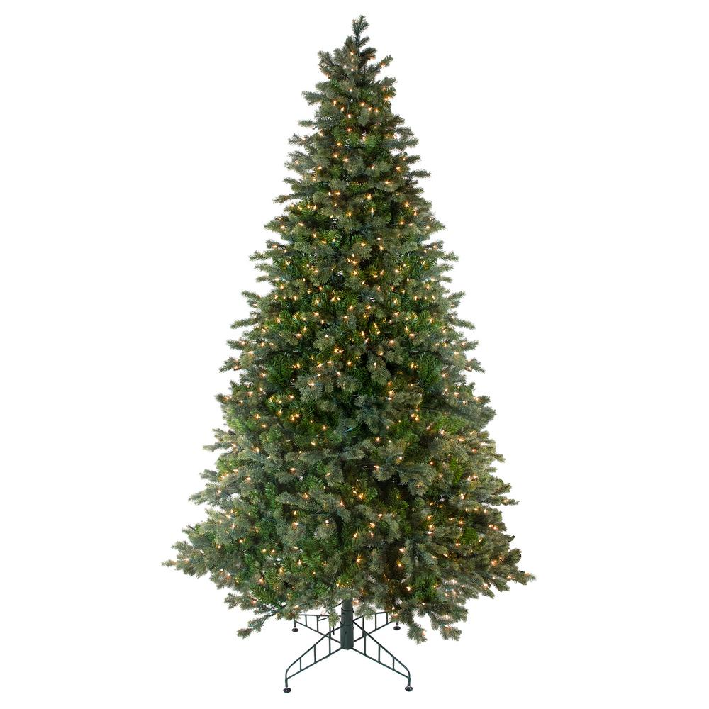 Northlight 108 In Pre Lit Savannah Spruce Artificial Christmas Tree With Clear Lights 32915489 The Home Depot