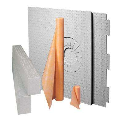 Kerdi-Shower-Kit 32 in. x 60 in. Off-Center Kit without Drain