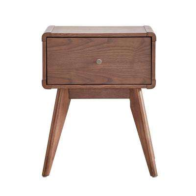 Holbrook 1-Drawer Chestnut Nightstand