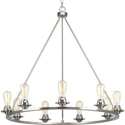 Debut Collection 9-light Brushed Nickel Chandelier
