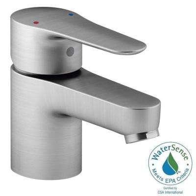 July Single Hole Single Handle Low Arc Bathroom Faucet in Brushed Chrome