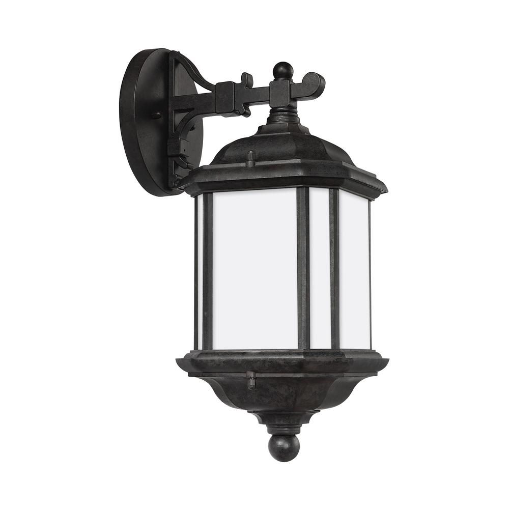 home decorators collection bronze motion sensor outdoor integrated led medium wall mount lantern. Black Bedroom Furniture Sets. Home Design Ideas