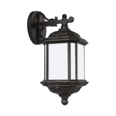 Kent 1-Light Oxford Bronze Outdoor Wall Mount Lantern with LED Bulb