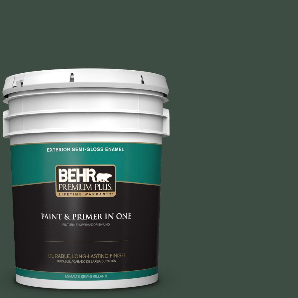 5-gal. #ECC-45-3 Conifer Semi-Gloss Enamel Exterior Paint