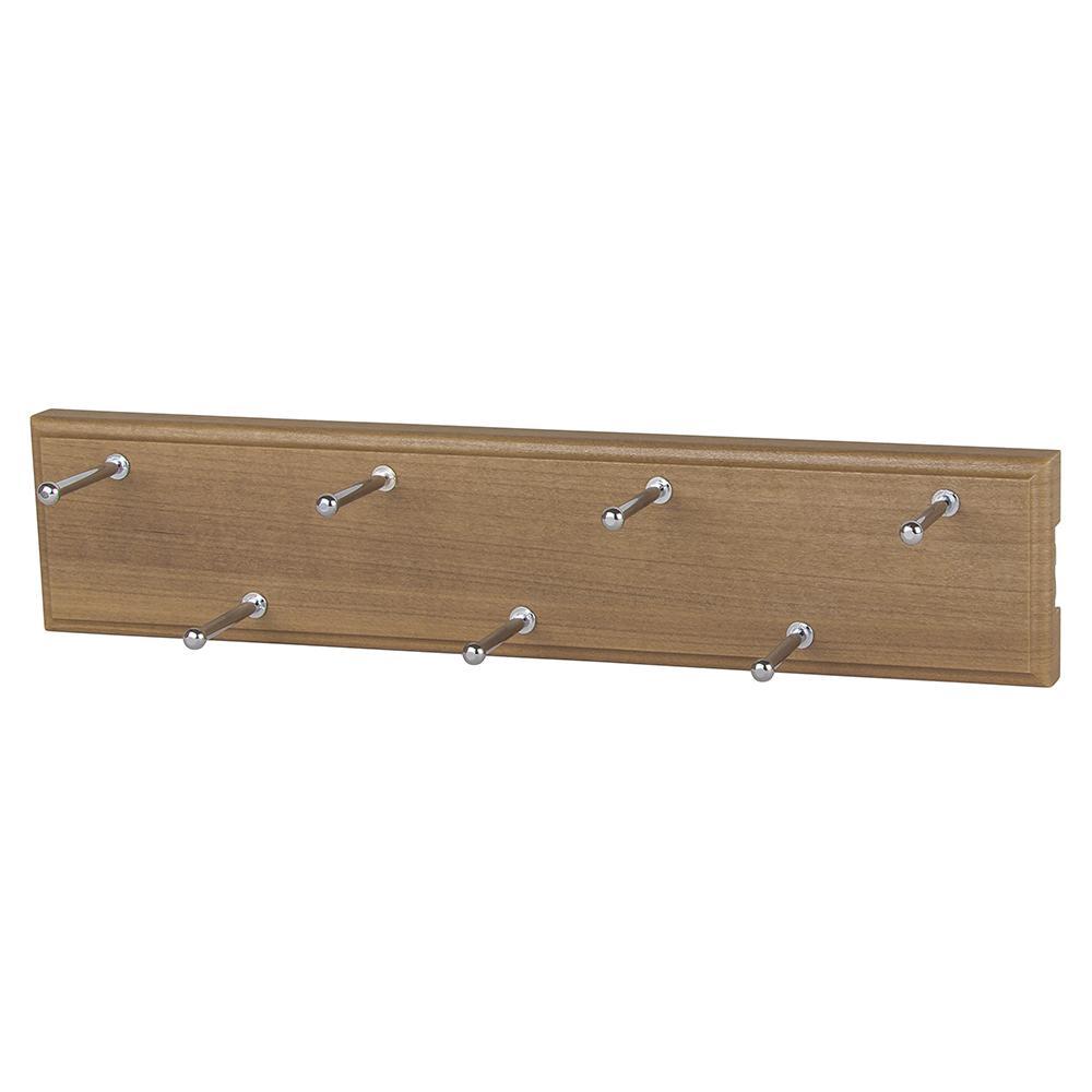 7-Hook Nutmeg Sliding Belt Rack
