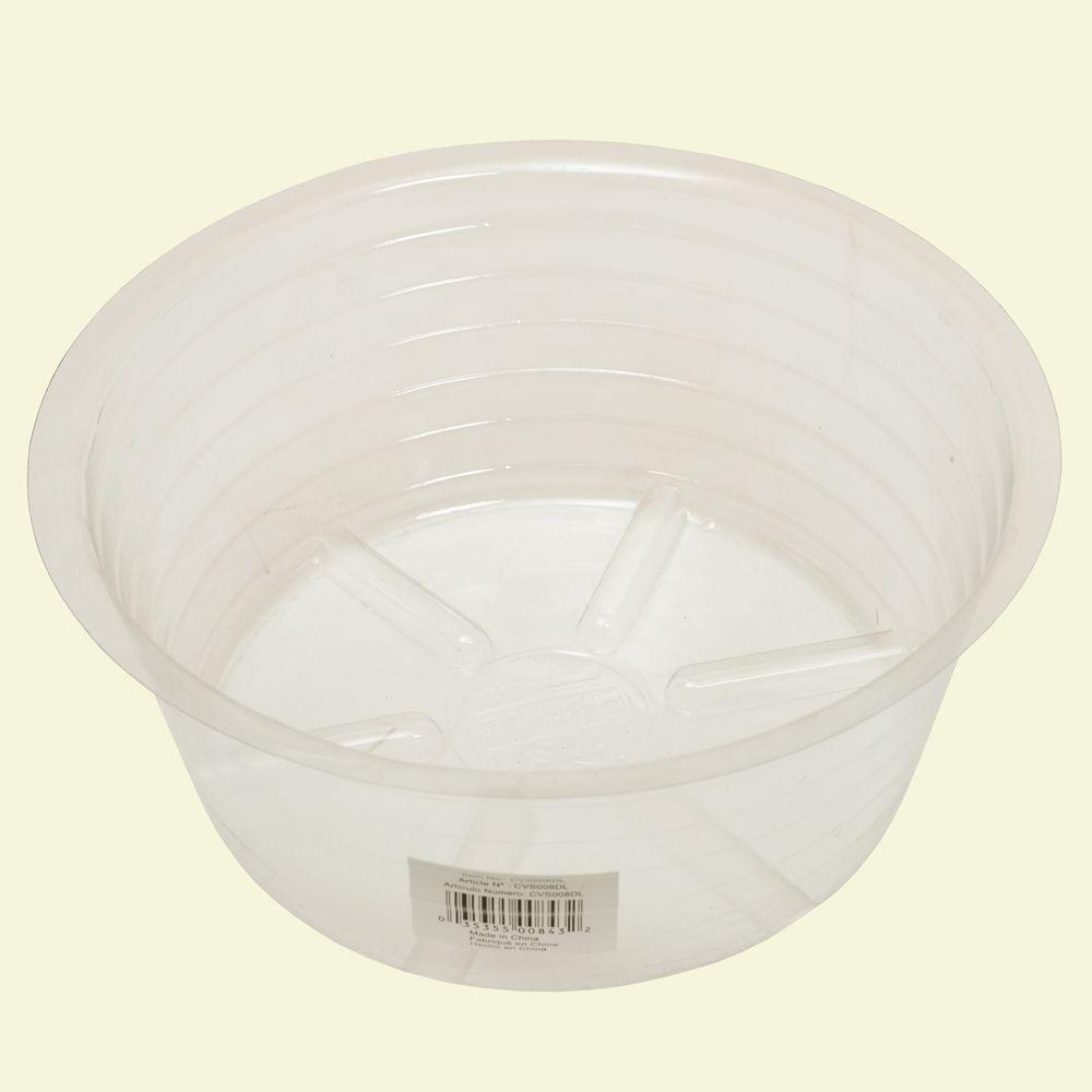 Bond Manufacturing 8 in. Deep Clear Plastic Saucer