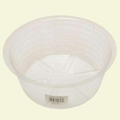 8 in. Deep Clear Plastic Saucer
