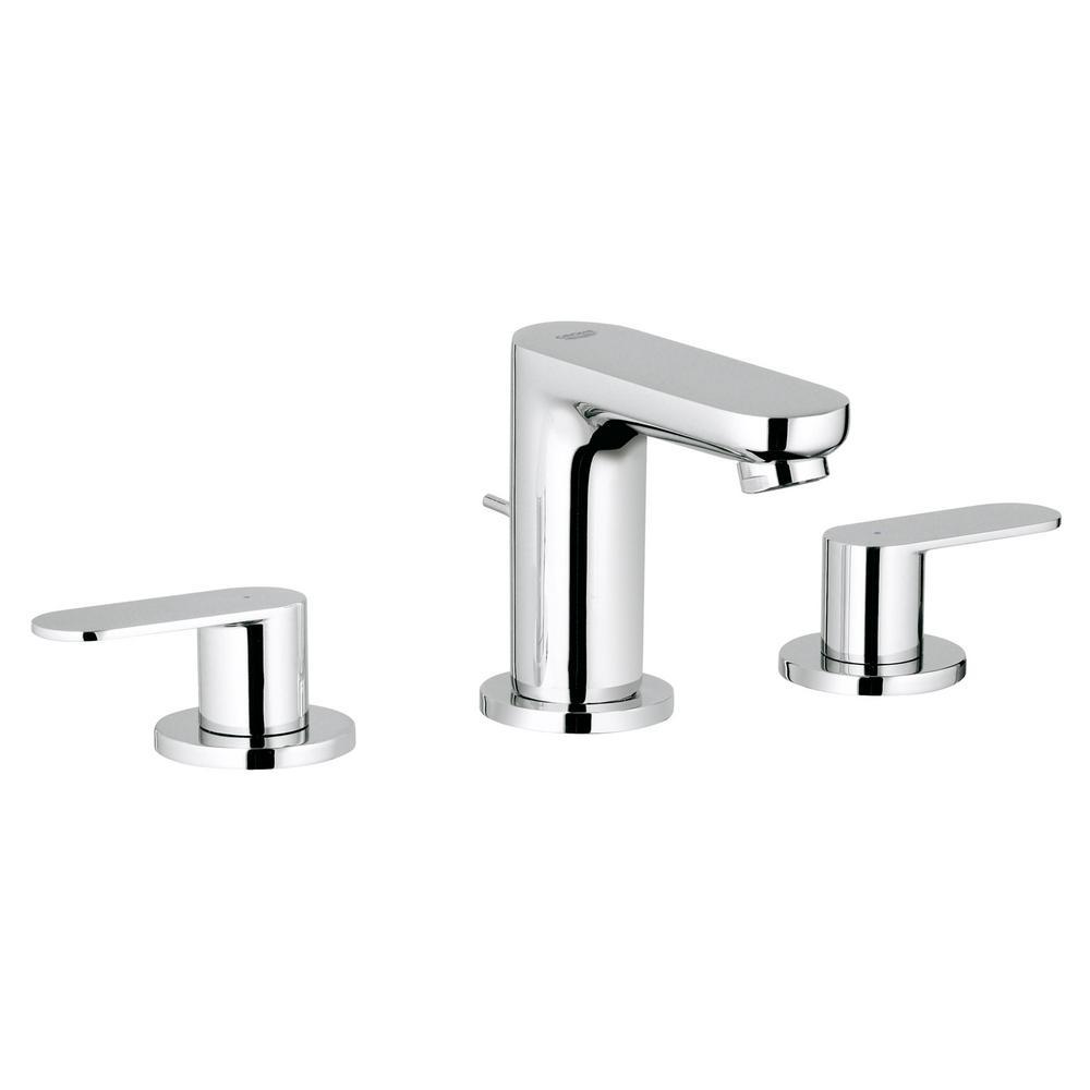 GROHE Allure 8 in. Widespread 2-Handle Bathroom Faucet in ...