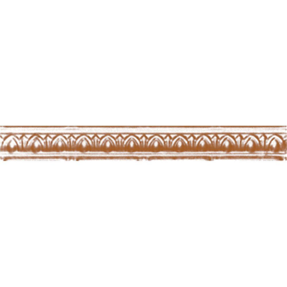 2 in. x 4 ft. x 2 in. Satin Copper Nail-up/Direct