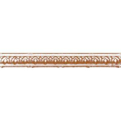 2 in. x 4 ft. x 2 in. Satin Copper Nail-up/Direct Application Tin Ceiling Cornice (6-Pack)