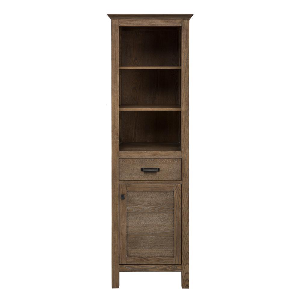 Stanhope 20 in. W x 68 in. H Linen Cabinet in Reclaimed Oak