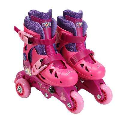 Princess Glitter Junior Size 6-9 Convertible Roller Skates