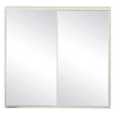 Model 500 59 in. x 57 in. Framed Sliding Tub Door in Satin Clear with Clear Glass and Color-Matched Handle