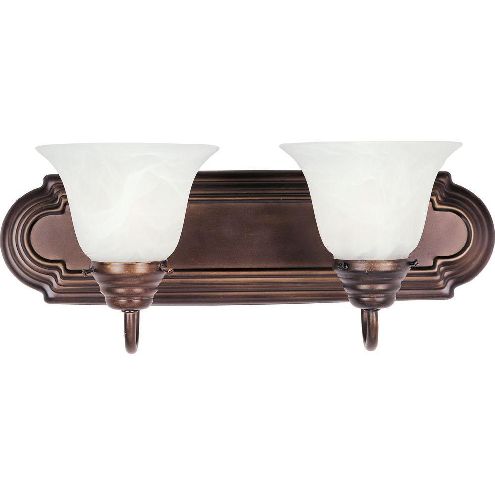 Maxim lighting essentials 2 light oil rubbed bronze bath for Bathroom vanity light fixtures oil rubbed bronze