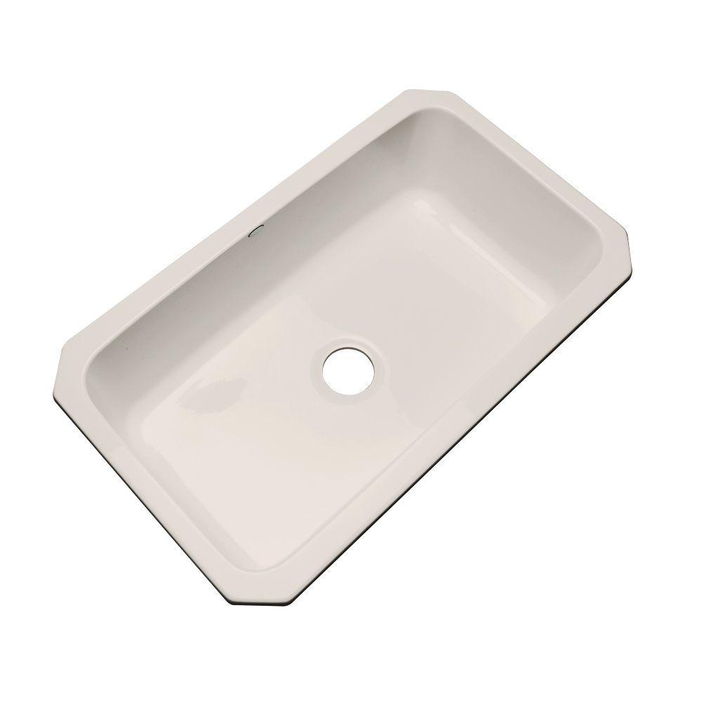 Manhattan Undermount Acrylic 33 in. Single Bowl Kitchen Sink in Desert Bloom
