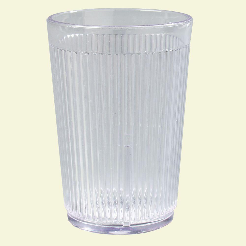 Carlisle 8 oz. SAN Plastic Tumbler in Clear (Case of 48) by Plastic Tumblers