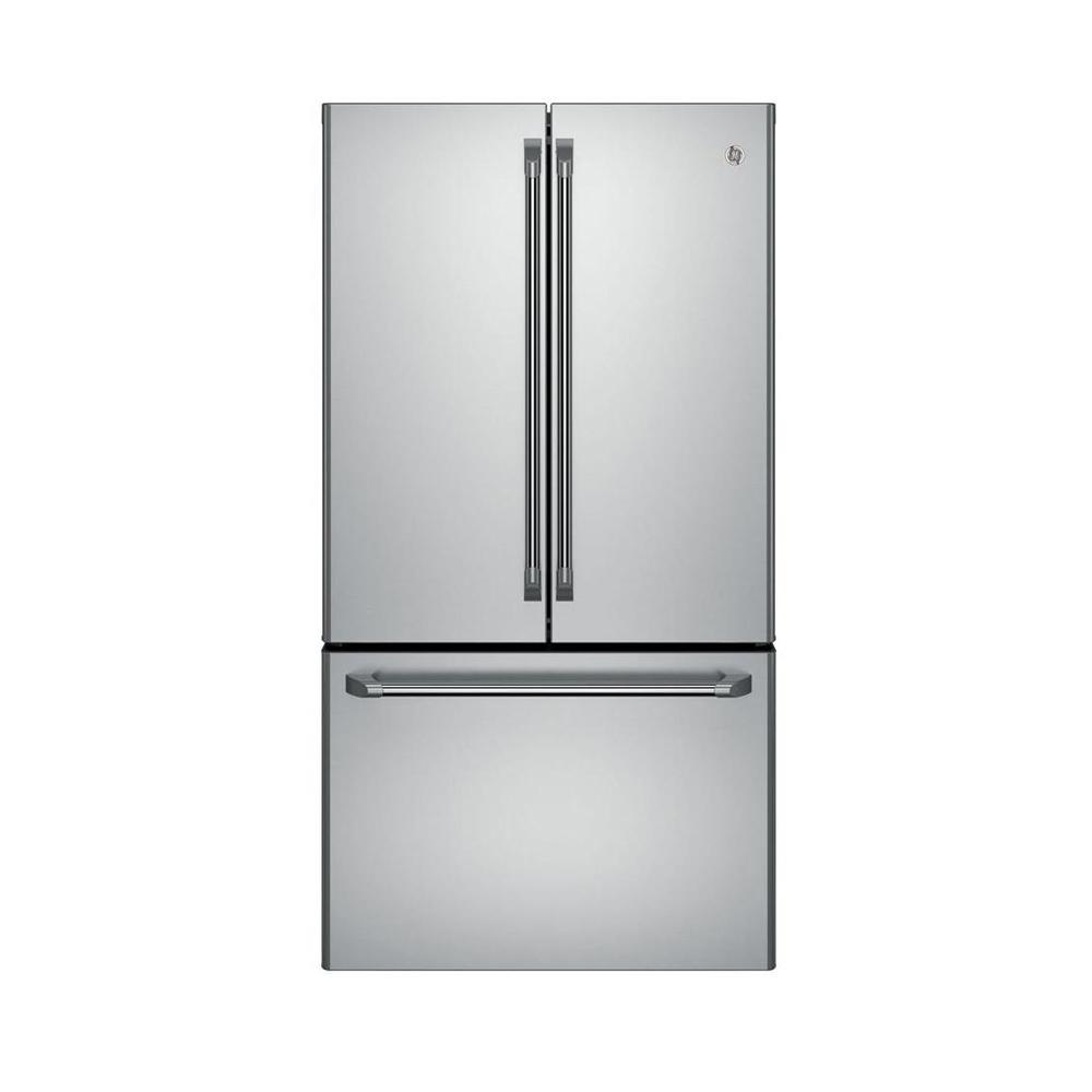 Best Counter Depth Refrigerator 2015 >> Cafe 23 1 Cu Ft French Door Refrigerator In Stainless Steel