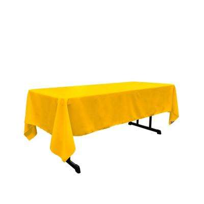 Polyester Poplin 60 in. x 120 in. Dark Yellow Rectangular Tablecloth