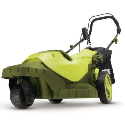 16 in. 12 Amp 360° 3-Wheel Corded Electric Walk-Behind Push Lawn Mower