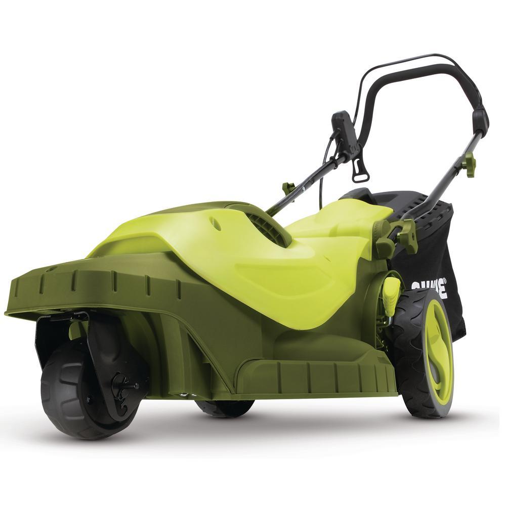 16 in. 12 Amp 360-degree 3-Wheel Corded Electric Walk-Behind Push Lawn Mower