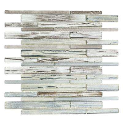 Midtown Sense Railroad Mutlicolor 11 .87 in. x 12.62 in. Polished Glass Wall Tile (1.04 sq. ft.)