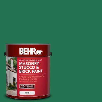 1 gal. #P420-7 Crown Jewel Flat Interior/Exterior Masonry, Stucco and Brick Paint