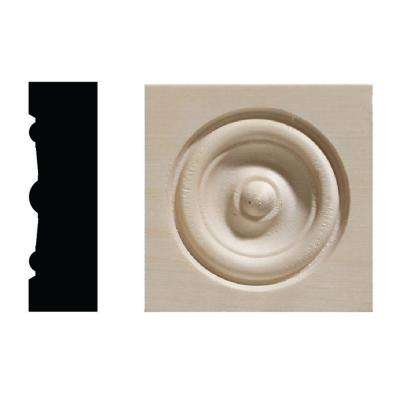 752C 13/16 in. x 2-3/4 in. x 2-3/4 in. White Hardwood Corner Block Moulding